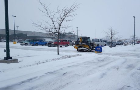 Sun Works does snow removal for businesses and large parking lots.