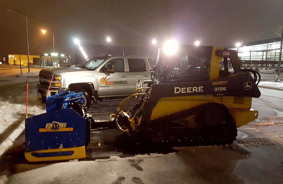 Forklift snow removal