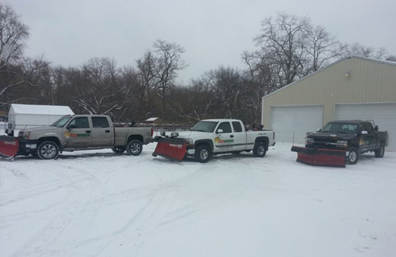 Street snow removal trucks